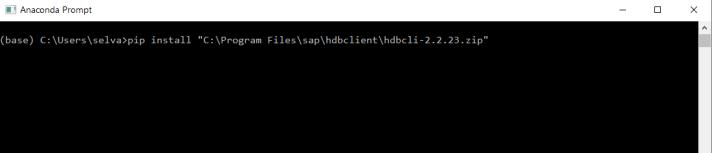 How to Configure Python Client API with SAP HANA 2 0 SP03 revision